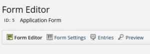 2 Form Editor